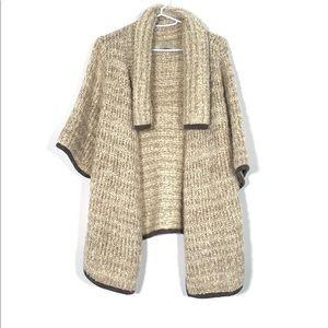 🆕 LOFT Short Sleeve Draped Sweater - Medium